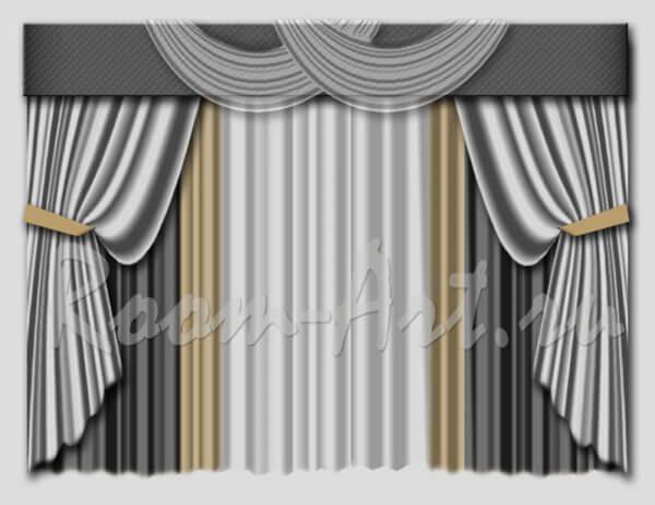 Дизайн штор + Комп.эскизы
